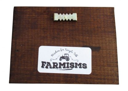 Farmism Wood Block with Saw tooth Hanger