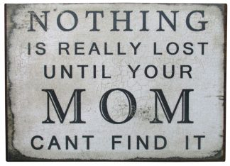 Nothing is Really Lost Until Your Mom Can't Find It